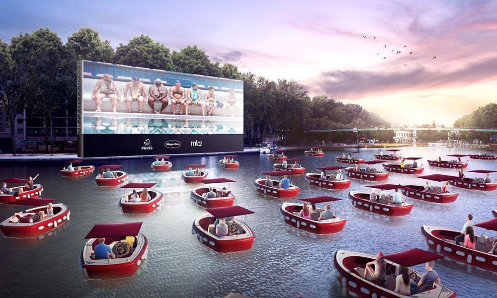 """Cet été, Paris inaugure un """"cinéma flottant"""" avec des bateaux électriques"""