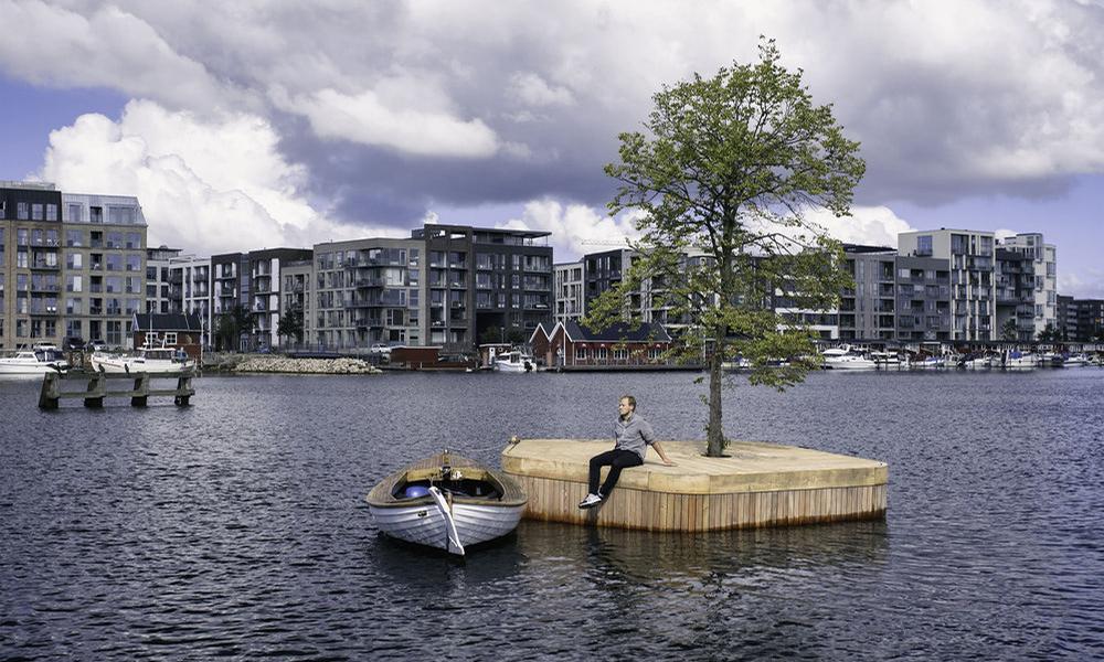 Distance sociale : le Danemark inaugure les îles flottantes individuelles