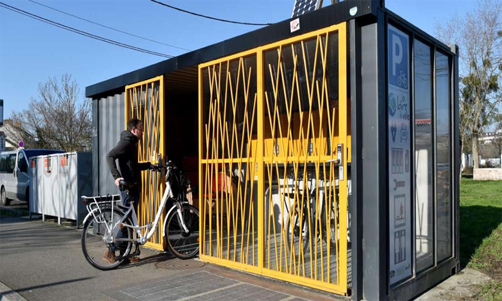 Cette startup nantaise transforme les containers en garages à vélo