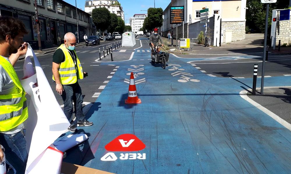 On sait enfin à quoi les pistes du RER Vélo vont ressembler
