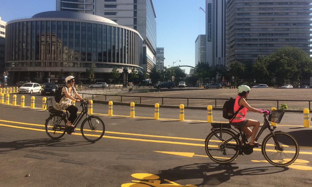 Le premier rond-point réservé aux vélos vient d'ouvrir à Paris