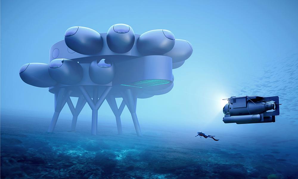 Une station sous-marine, c'est le projet du petit-fils du commandant Cousteau