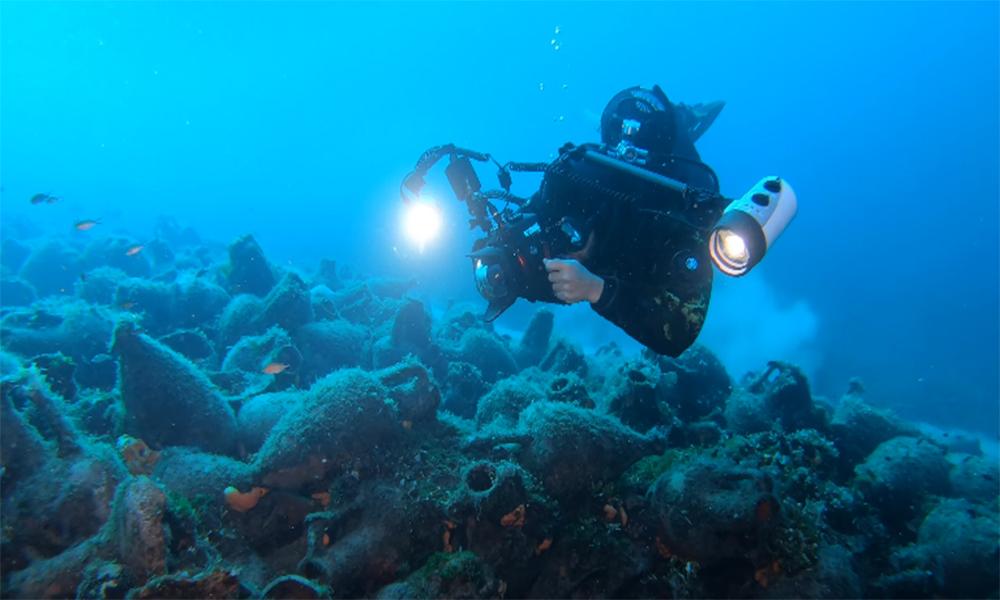 Pour visiter ce musée sous-marin, palmes et masques sont obligatoires