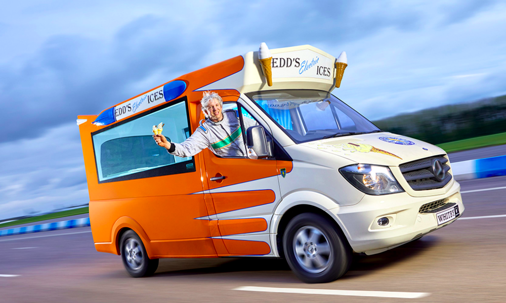 Inutile et génial : voici le camion de glaces électrique le plus rapide du monde