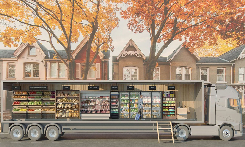 Fini le supermarché, ce camion-épicerie arrive près de chez vous