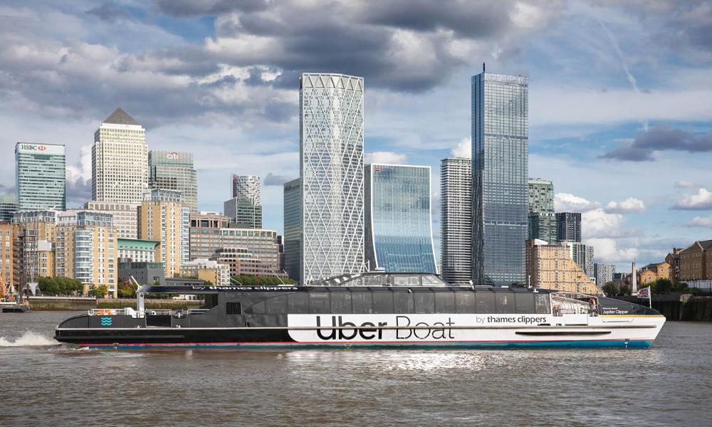 Maintenant, Uber propose aussi des bateaux-mouches à Londres