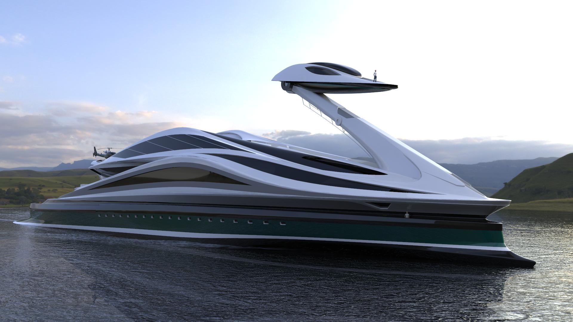 Ce yacht pour milliardaire est un cygne géant avec une tête détachable (!)