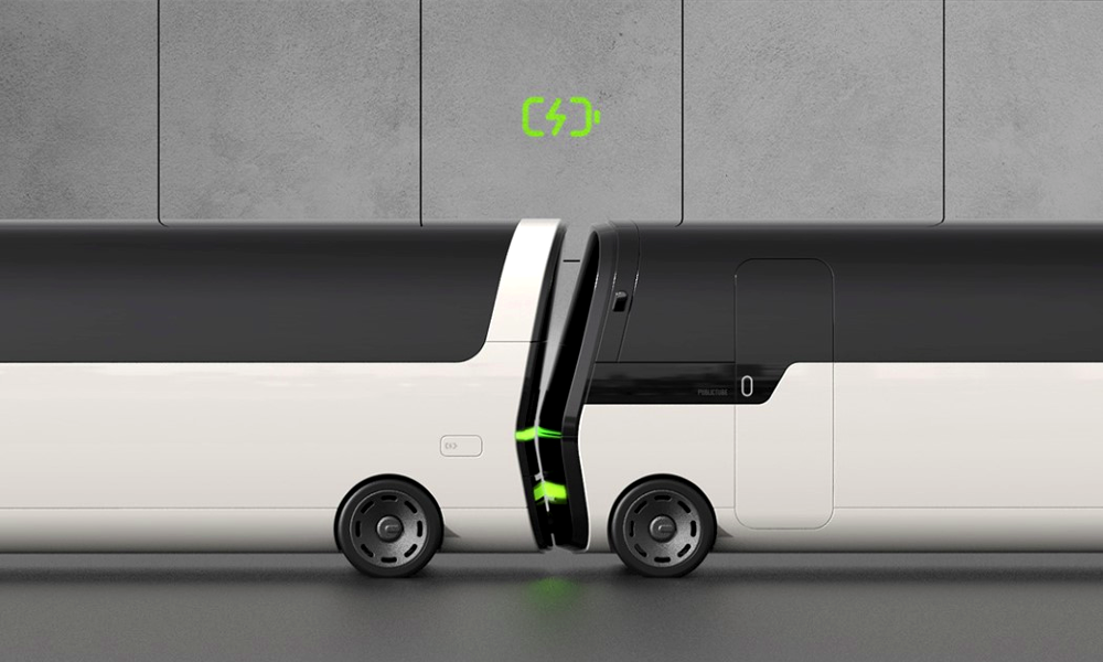 Plus besoin de borne, ces bus se rechargent les uns aux autres