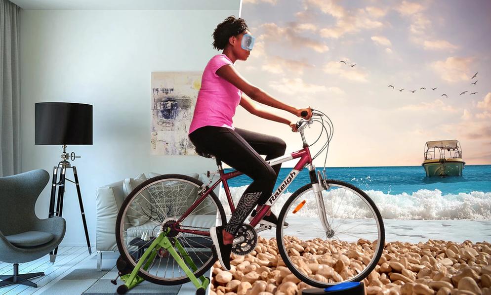 Pas besoin de sortir, ce vélo vous balade en réalité virtuelle