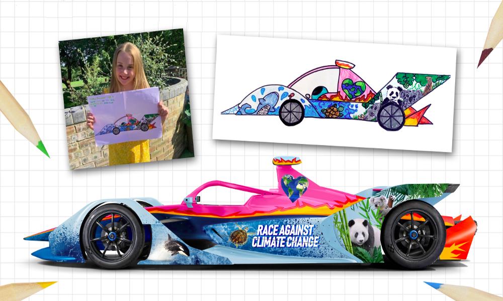 À 11 ans, elle dessine la future monoplace du grand prix de Formule E