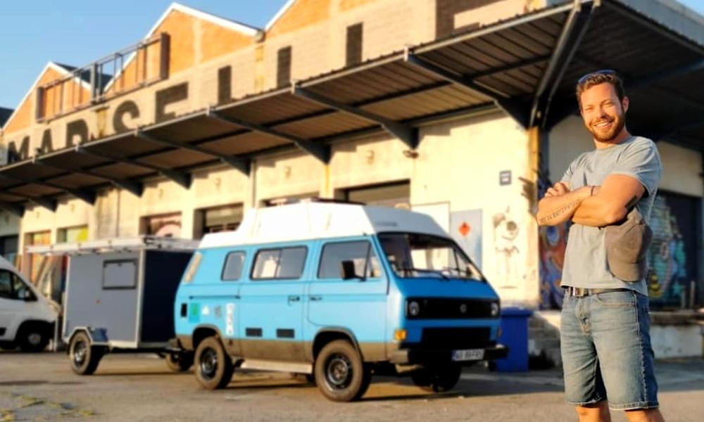 Ce Marseillais a fabriqué un van solaire pour faire son tour de France
