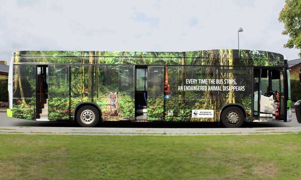 Ce bus customisé par le WWF veut nous alerter sur la sixième extinction de masse