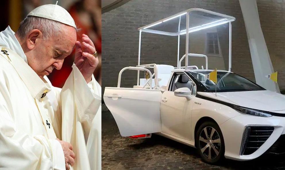 Oh mon Dieu,  le pape vient de baptiser sa première papamobile à hydrogène