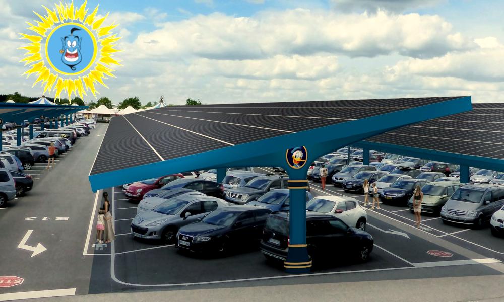 Disneyland va transformer 17 hectares de parking en centrale photovoltaïque