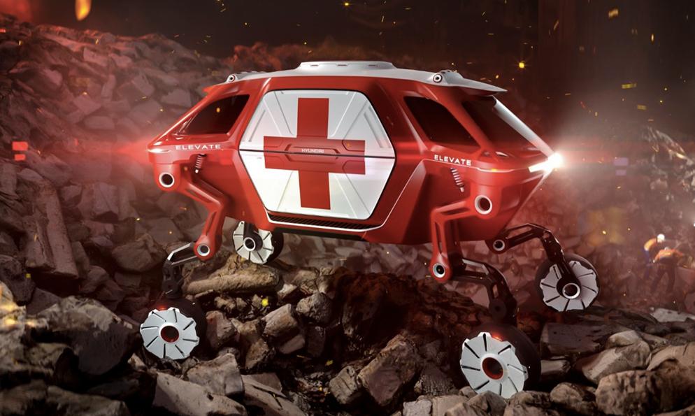 Cette voiture a des jambes pour sauver n'importe qui, n'importe où