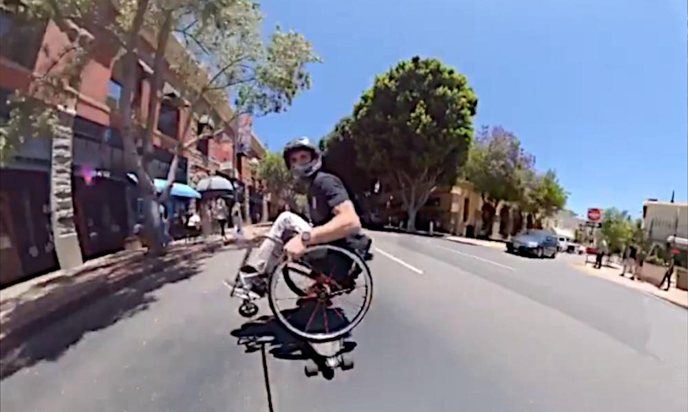En fauteuil roulant depuis 4 ans, il devient un pro du skate-board