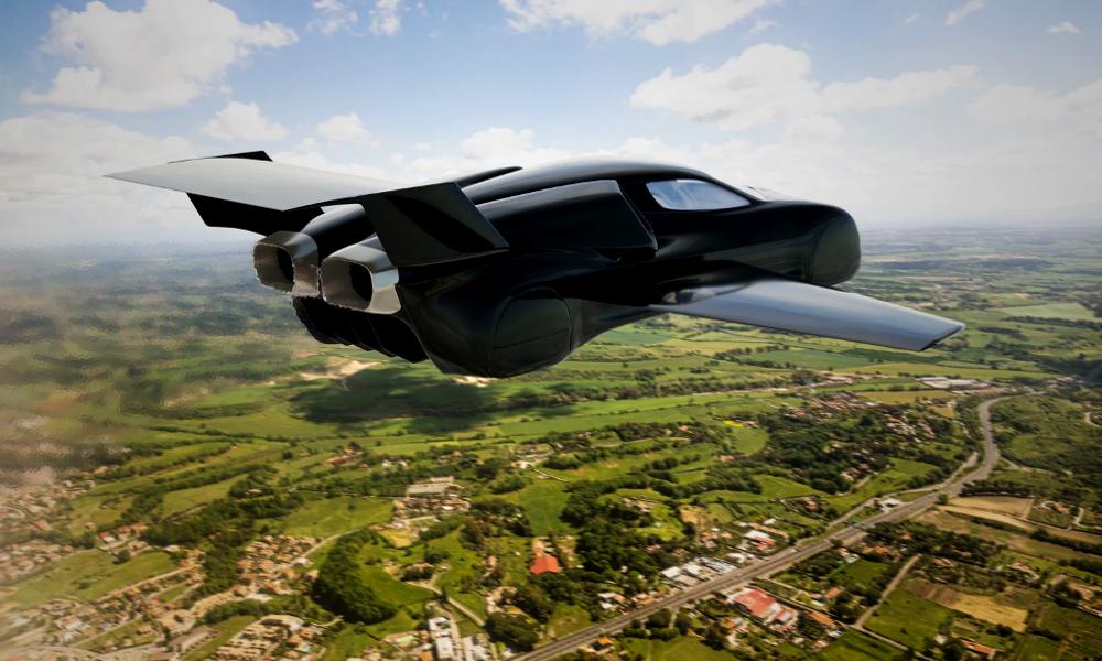 Cette voiture électrique se fait pousser des ailes pour décoller