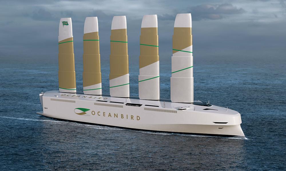 Avec ses éoliennes, ce cargo peut livrer 7000 voitures sans polluer
