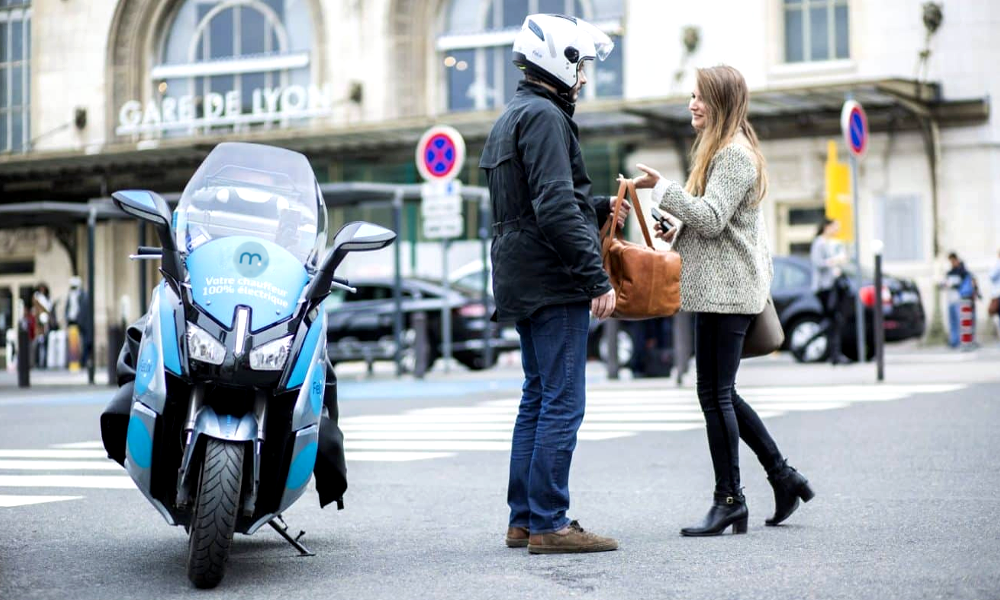 e•scooter, le service 100% électrique avec chauffeur qui veut dépolluer l'air parisien