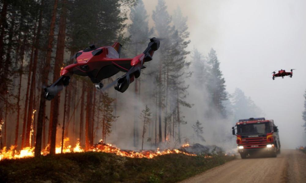 Ce quadricopter pompier fonce à 225 km/h pour aider en cas de catastrophe