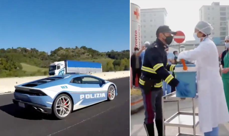 Livraison express : des policiers italiens roulent à 250km/h pour une greffe de rein