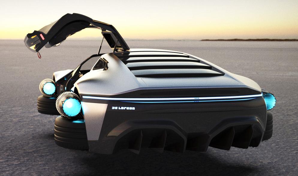 """Voici à quoi ressemblerait la voiture de """"Retour vers le futur""""… dans le futur"""