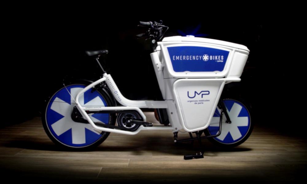 Contre le Covid, les Urgences de Paris lancent le vélo-ambulance électrique
