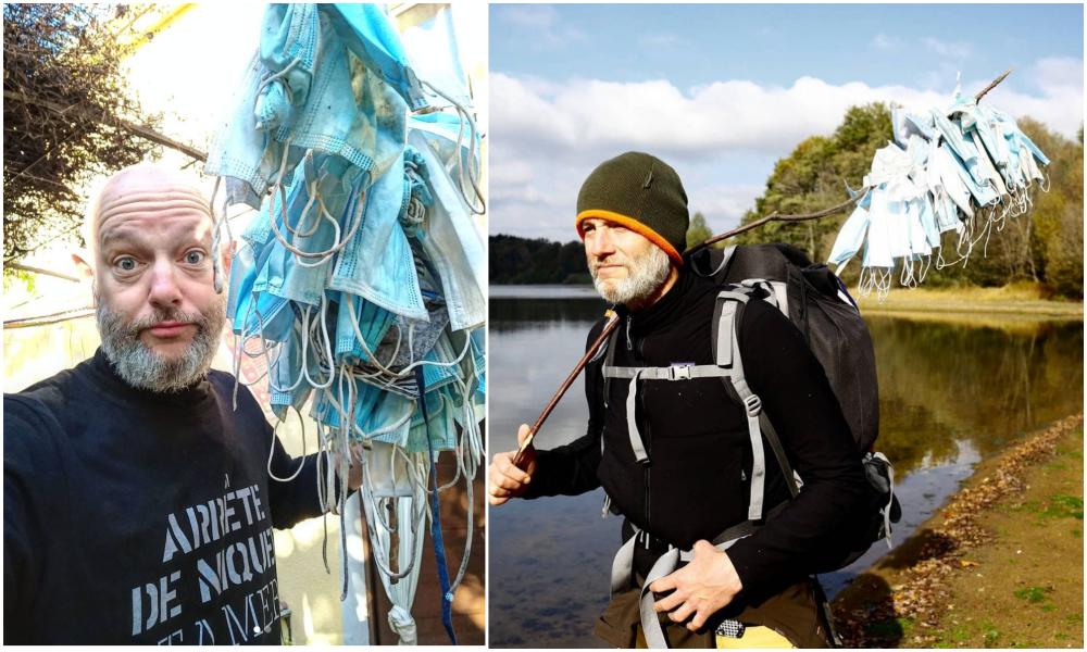 Ils marchent 900 km entre Paris et Marseille pour ramasser les masques jetés par terre