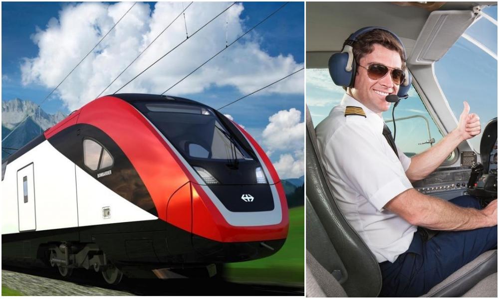 En Suisse, les pilotes d'avion sont incités à devenir conducteurs de train