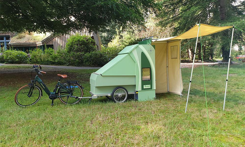 Plus cool la vie avec cette caravane pour vélo