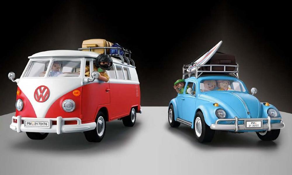On arrête tout : les mythiques Coccinelle et Combi VW débarquent en version Playmobil