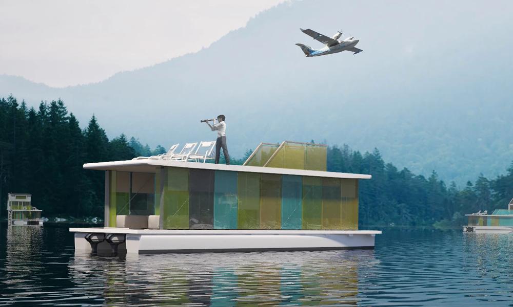 Sur cette maison flottante, votre voiture est un bateau électrique