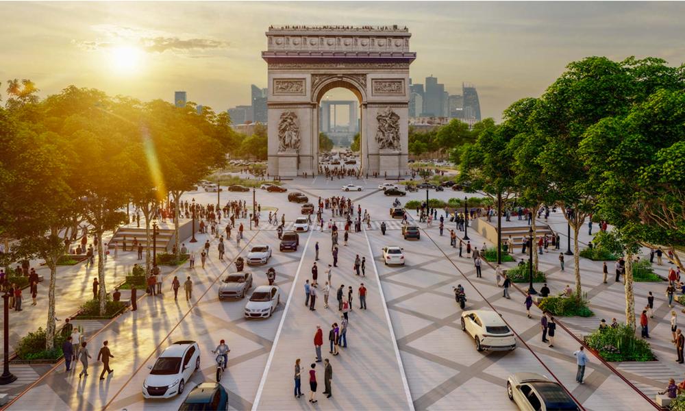 Les Champs-Élysées vont devenir un méga jardin piétonnier dès 2024