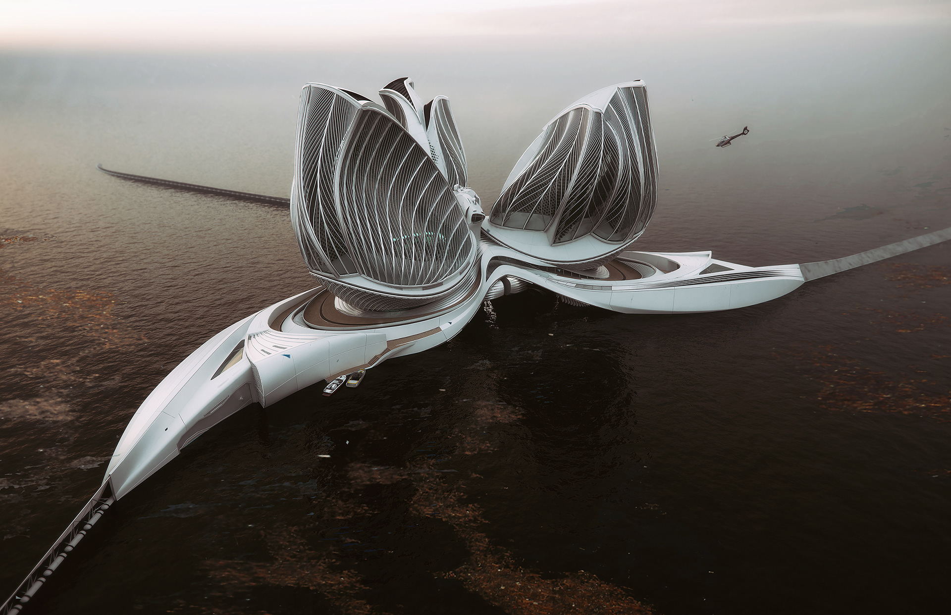 """Cette île flottante XXL veut """"manger"""" tous les déchets des océans"""