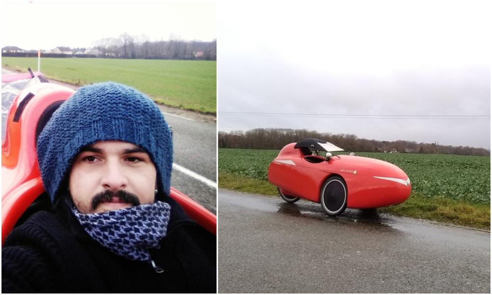 Tous les jours, ce Français part au boulot dans son bolide écolo… à 30km/h