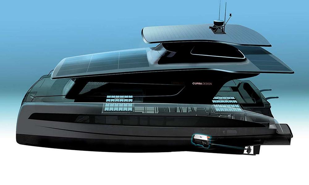 Des ex-designers SEAT inventent un yacht à énergie solaire
