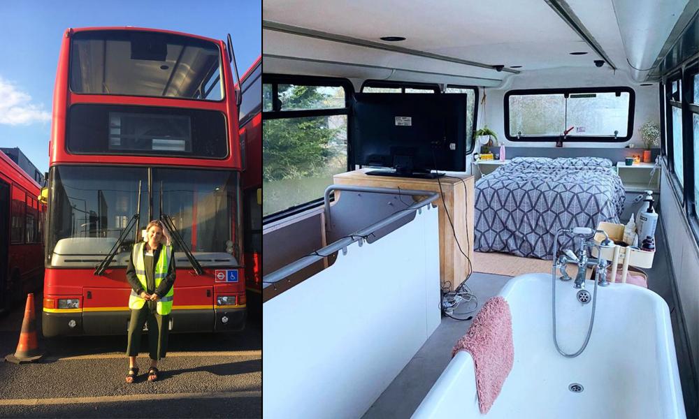 Avec seulement 20 000 €, ce couple transforme un bus anglais en maison sur roues