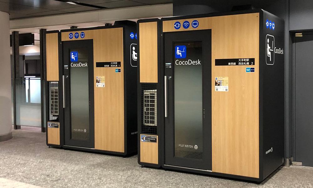 Dans ce métro, on peut télétravailler en réservant l'une de ces cabines