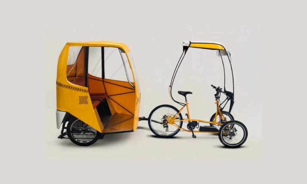 Avec ce tricycle électrique, on peut vraiment sortir couvert