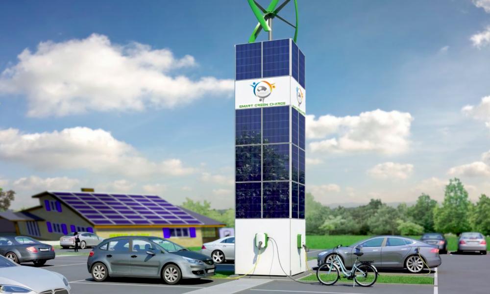 Cette éolienne transforme n'importe quelle entreprise en station de recharge écolo
