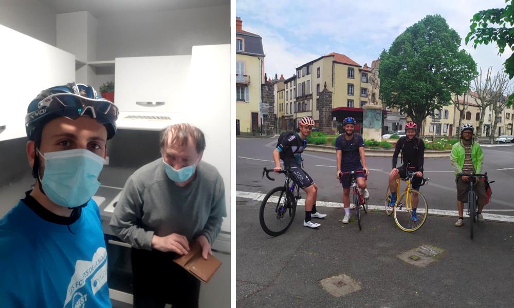 """A Clermont-Ferrand, les sportifs deviennent """"super livreurs"""" pour aider les victimes de l'isolement"""