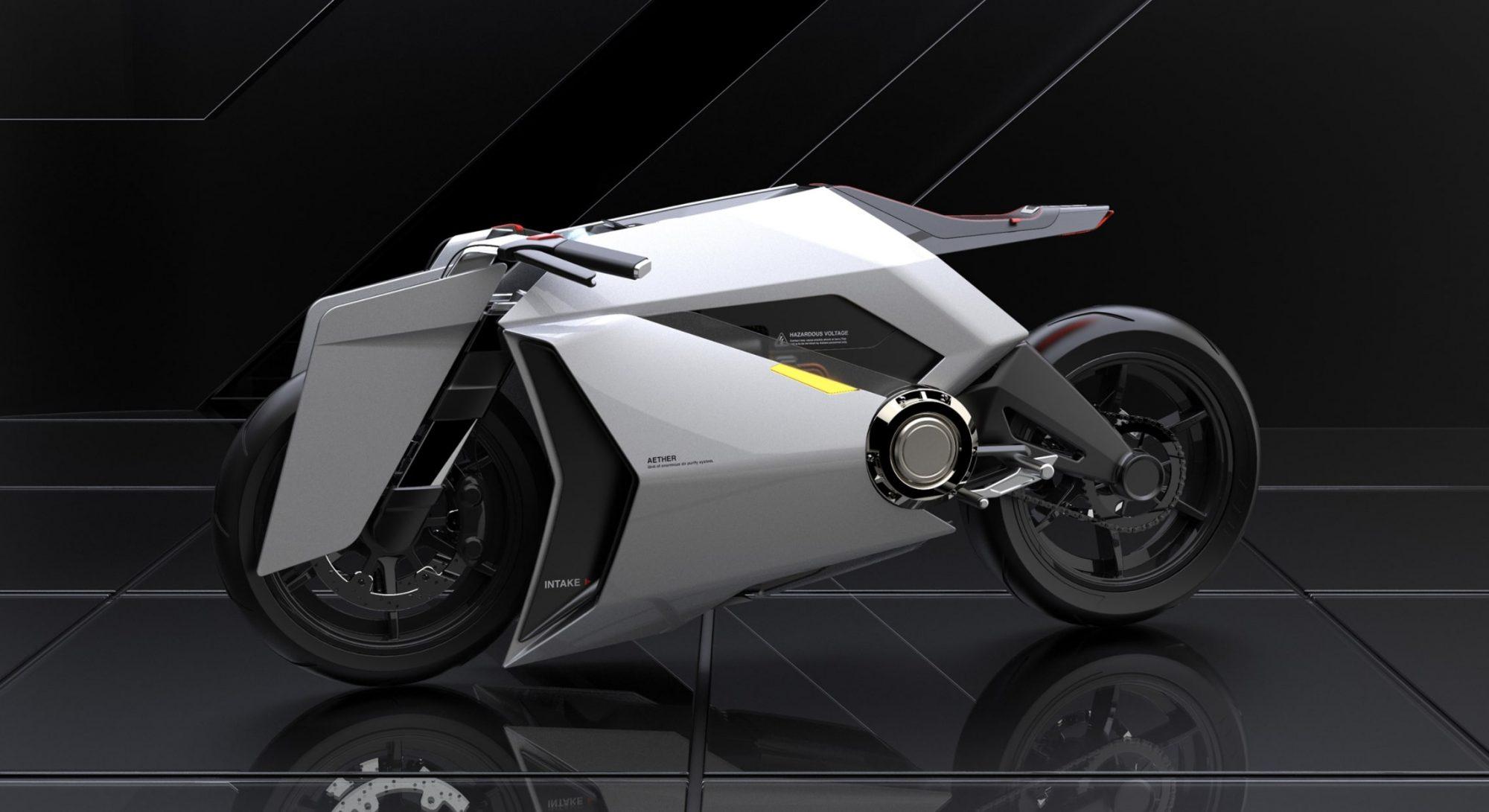 Cette moto électrique purifie l'air sur son passage