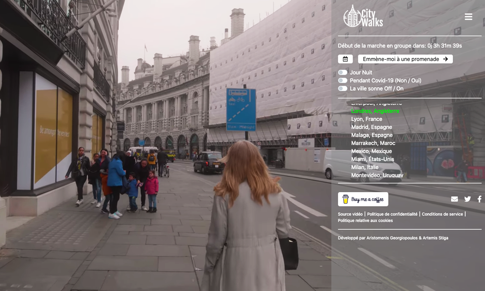 Reconfiné.e ? Ce site propose des marches virtuelles dans toutes les villes du monde