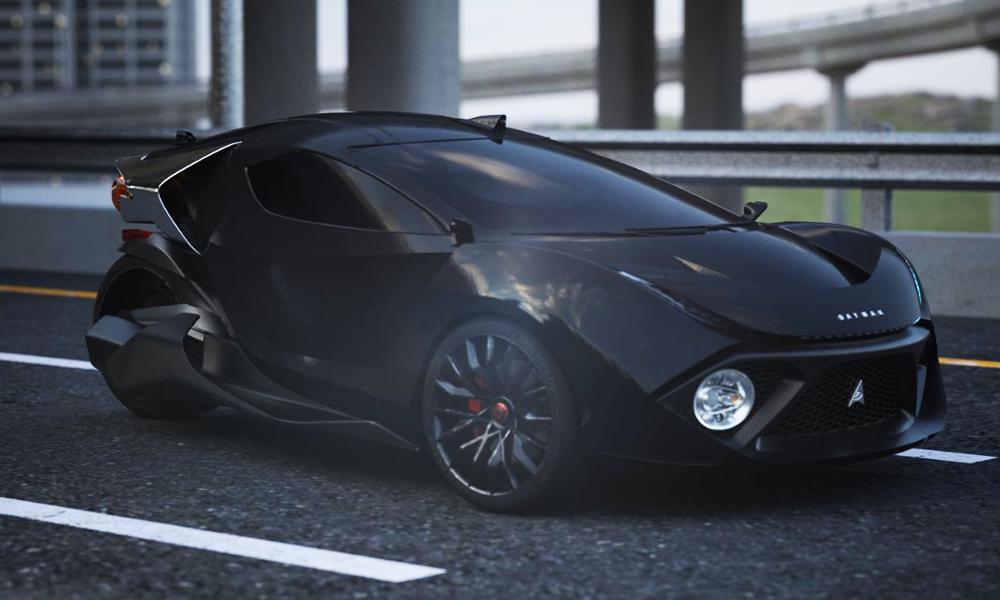 Cette voiture électrique à trois roues fonce à 200 km/h