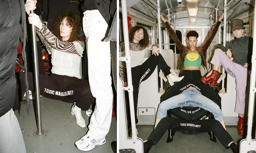 """Ces militantes écartent les jambes dans le métro pour dire NON au """"manspreading"""""""