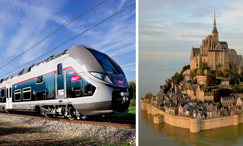 Adieu diesel :le mythique train du Mont Saint-Michelpasse au colza
