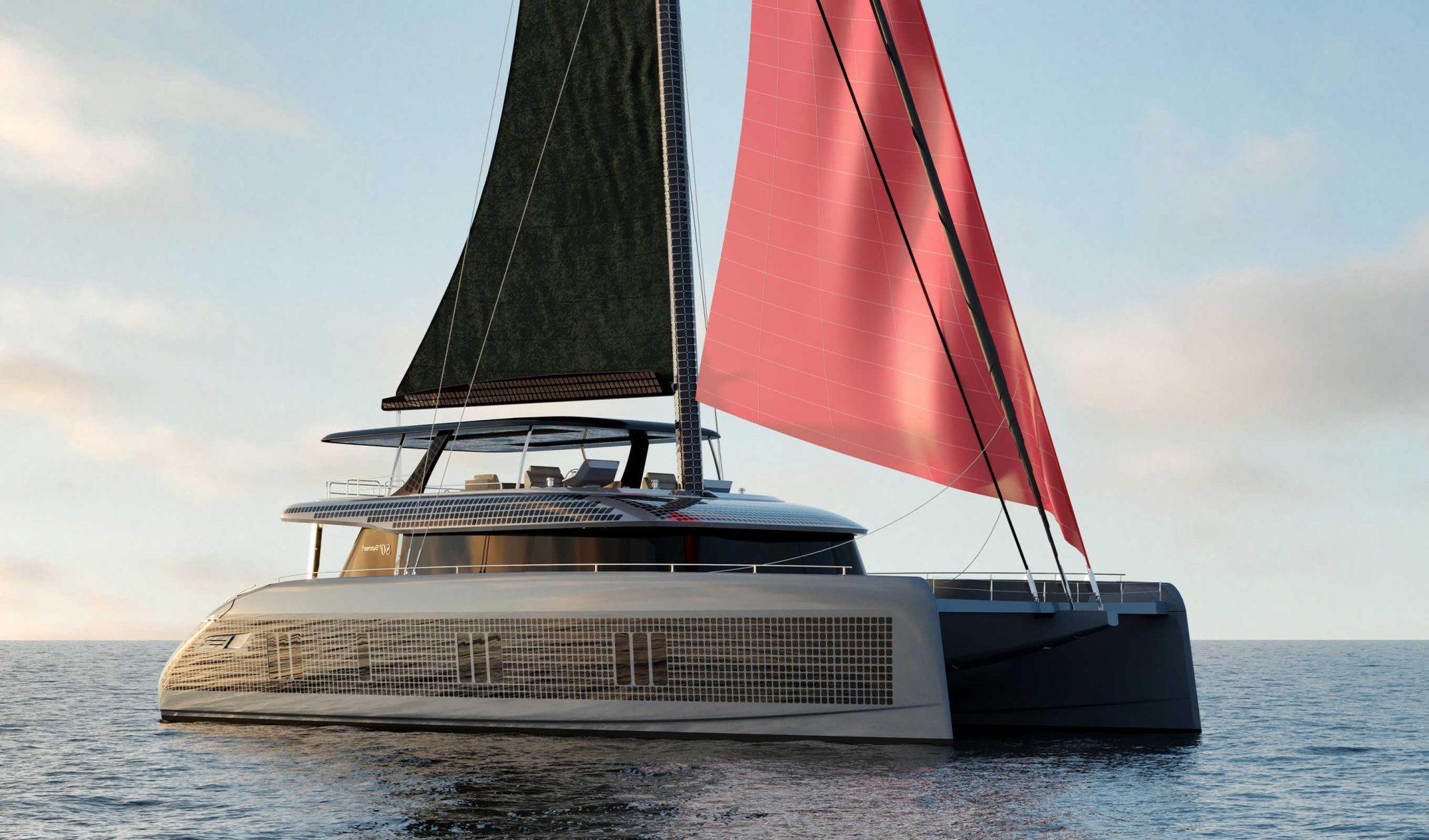 """Grâce à sa """"peau solaire"""", ce catamaran électrique se recharge à l'infini"""