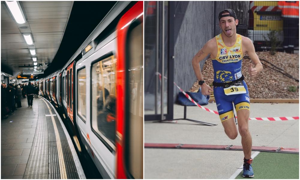 À Lyon, cet homme court aussi vite que le métro