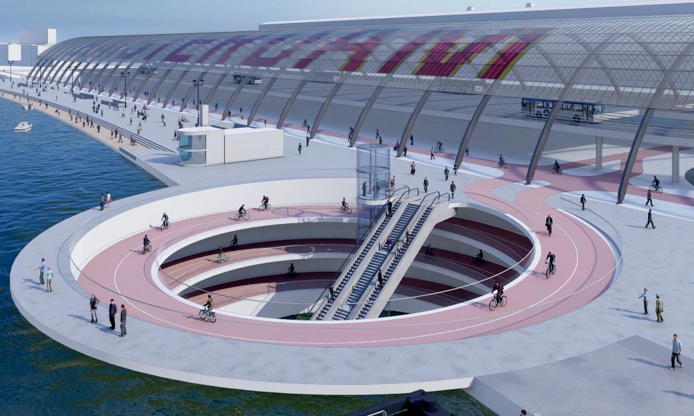 Amsterdam veut construire une incroyable piste cyclable qui plonge sous l'eau
