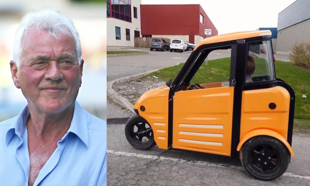 À 88 ans, il veut changer le monde avec la voiture électrique la plus moche de tous les temps